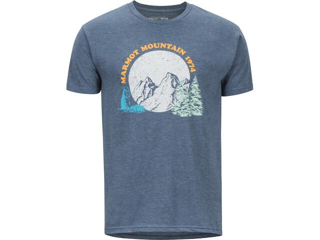 Marmot Boback Lyhythihainen T-paita Miehet, navy heather